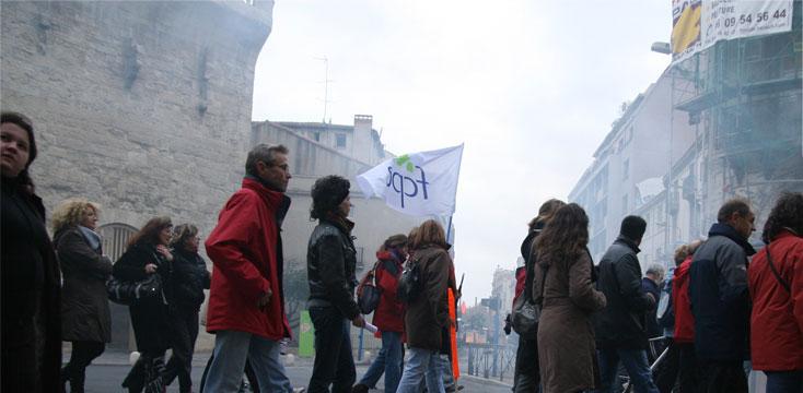 Manifestation contre l'Augmentation générale de l'EDP. France 2010